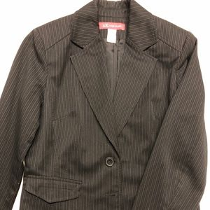 Anne Klein Stretch black pin-striped jacket 10P